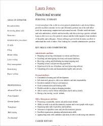 Functional Summary Resume Examples by Functional Resume Sample 9 Examples In Word Pdf