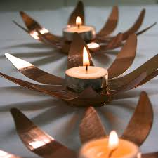 sunflower copper tea lights maud interiors