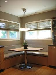 Kitchen Booth Table Sets by Corner Banquette With Triangle Table Would Be Ideal Geometry For