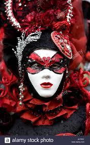 Italian Halloween Costume Italian Carnevale Costume Face Mask Venice Italy Stock