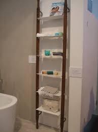 Storage Shelves For Bathroom by Bathroom Bathroom Ladder Shelf Wall Storage Shelves Target
