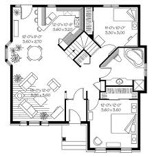 Three Bedroom Ranch Floor Plans Charming Design House Plans For Small Homes 15 1950s Three Bedroom