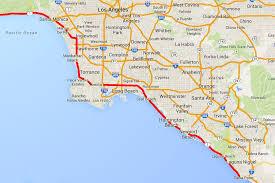 california map laguna pacific coast highway from point to santa