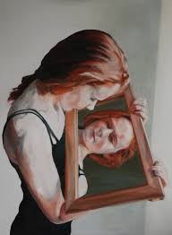 Looking For A Artist Saatchi Adolescent Looking In Mirror Painting By Lucia Knops