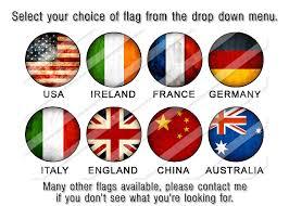 Flag You Down Flag Dangle Earrings English Flag Irish Flag French Flag Gift