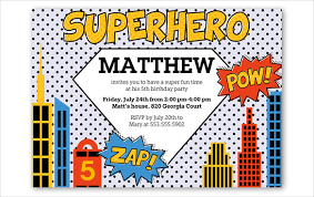 invitation flyer templates free superhero flyer template 21 superhero birthday invitation