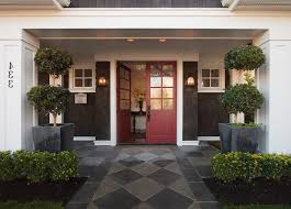 Colonial Outdoor Lighting Black Contemporary Front Door Entry Traditional With Potted Plants