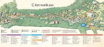fort worth map zoo map