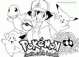pokemon color pages coloring pokemon color pages