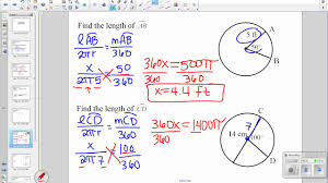 find circumference and arc length 11 1 geometry youtube