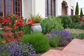 Landscape Flower Bed Ideas by Mediterranean Garden Design How To Create A Tuscan Garden