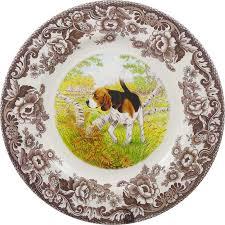 spode woodland dogs dinnerware portmeirion spode beagle
