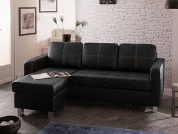 canapé d angle noir simili cuir canapé d angle réversible avec coussins amovibles en simili denver