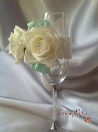 mint green corsage pearl wrist corsage with mint green ribbons groovyruby ltd