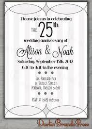 25th wedding anniversary invitation and grey by scadesigns