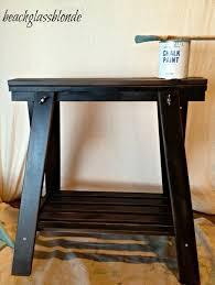 furniture space saving black sawhorse table design learn easy space saving black sawhorse table design