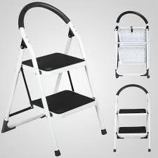 non slip 2 step ladder lightweight folding step stool with 330lbs