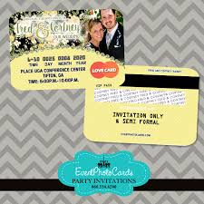 Yellow Wedding Invitation Cards Yellow And Black Wedding Floral Invitations Credit Card Style
