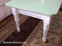 shabby chic green coffee table restyle