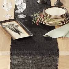 crate and barrel table runner basa black table runner crate and barrel