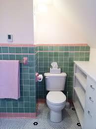 Pink Tile See Jane Design A Vintage Style Green And Pink Tile Bathroom For