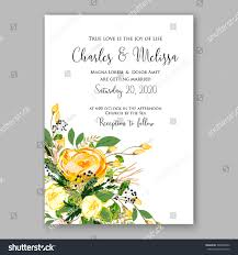 Invitation Card Samples Wedding Invitation Card Template Yellow Rose Stock Vector
