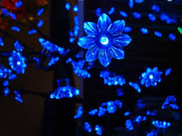Outdoor Blue Lights 8 5 Pre Lit Led Outdoor Tree Decoration Blue Flower