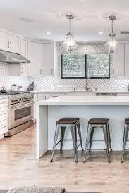 white shaker kitchen cabinets backsplash 91869 remodel kitchen with all white shaker cabinets chevron