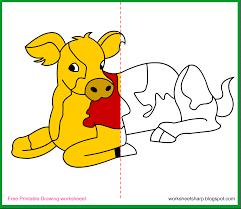 free drawing worksheets printable calf drawing worksheets