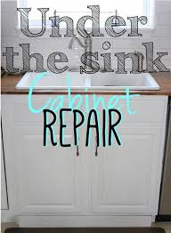 how to fix cabinet bottom replacing the sink cabinet floor kitchen sinks