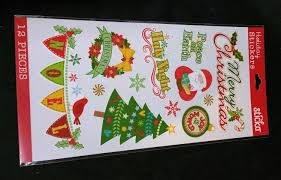sticko holiday stickers wreaths peace on earth ornaments merry