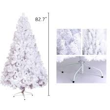 7ft christmas decoration tree white pine 1000 tips pine metal