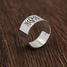 monogrammed silver ring monogrammed name rings personalized 925 silver ring for women men 3
