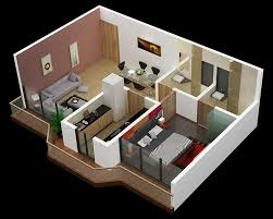 One Bedroom Apartment Plans And Designs Small One Bedroom Ideas 25 House Apartment Plans Design