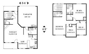 two story small house floor plans house plans two story with garage home pattern