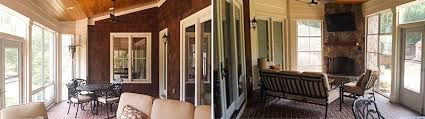 custom screened porches by professional builder in charlotte nc