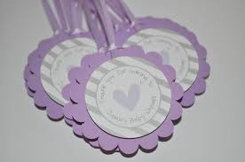 bridal shower favor tags baby shower favor tags purple and gray thank you tags