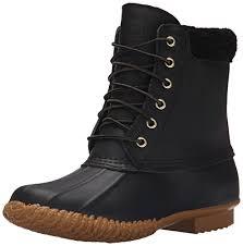 womens duck boots uk amazon com skechers s duck boot ankle bootie
