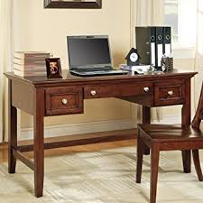 writing desk with drawers amazon com oslo writing desk w keyboard drawer in cherry kitchen