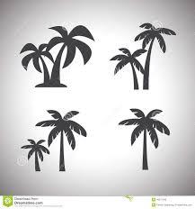 coconut tree icon stock vector image 46977945
