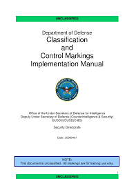 department of defense dod classification and control markings