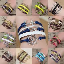 vintage infinity bracelet images 15 colors free shipping fashion vintage infinity anchor hook jpg