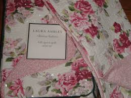Laura Ashley Twin Comforter Sets Laura Ashley Lidia Pink Floral Roses Full Queen 3p Quilt Set