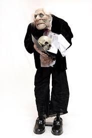 halloween new scarymore haunted butler motion activated 36