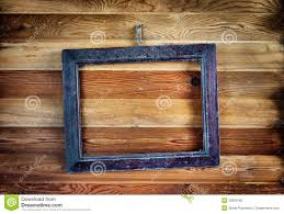 old vintage frame hanging on the wall stock photos image 33600303