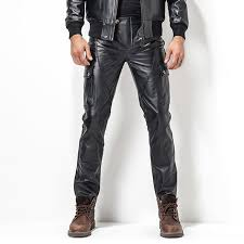 leather motorcycle pants men s leather pant biker pants motorcycle punk rock pants man s