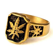 king gold rings images Kings pauper fashion high quality hemp leaves stainless steel gold jpg