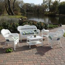 Walmart Patio Furniture Wicker - sahara all weather wicker patio set seats 4 walmart com