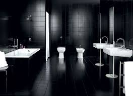 black tile bathroom ideas dadka modern home decor and space saving furniture for small