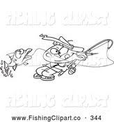 royalty free stock fishing designs of outlines